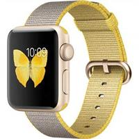 Apple Watch 2 38mm Gold Aluminum with Yellow Gray Nylon Band